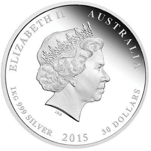 2015 1//2 oz Australia Silver Goat Lunar Series II BU