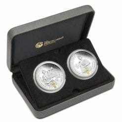 2012 Her Majesty Queen Elizabeth II - Diamond Jubilee Two-Coin 1oz .999 Silver Proof Set - Perth Mint