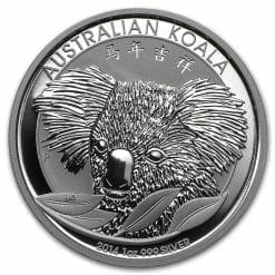 2014 Australian Koala 1oz .999 Silver Bullion Coin with CHINESE PRIVY in Capsule - Perth Mint BU